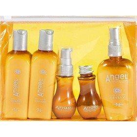 Angel Professional Набор тестеров для жирных волос в косметичке, 2х100 мл, 1х80 мл, 2х50 мл