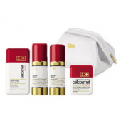 CELLCOSMET Дорожный набор для чувствительной кожи с  лосьоном - тоником и мягким очищающим кремом Starter and Travel Sensitive Set, 2х30 мл, 1х50 мл, 1х125 мл