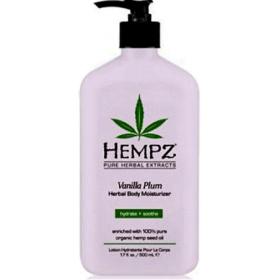 Hempz - Молочко для тела увлажняющее Cлива и Bаниль - Vanilla Plum Herbal Body Moisturizer, 500 мл