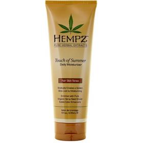 Hempz - Молочко для тела с бронзантом светлого оттенка  - Touch of Summer Fair Skin Tonea, 235 мл