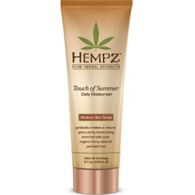 Hempz - Молочко для тела с бронзантом темного оттенка  - Touch of Summer Medium Skin Tonea, 235 мл