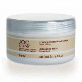 BAREX ITALIANA - Выпрямляющий крем-кондиционер для вьющихся волос с маслом семени льна - Detangling cream with Linseed Oil, 1000 мл